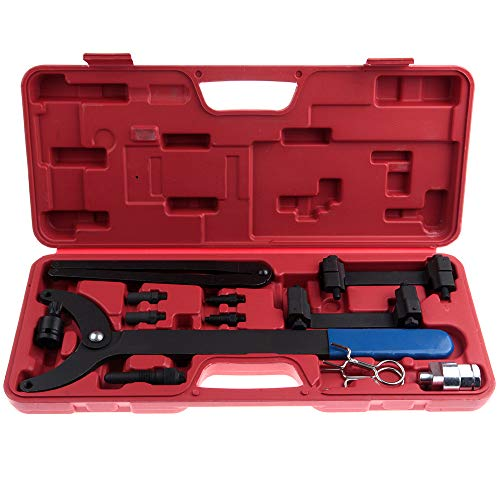 SCITOO Fit VW Audi FSI V6 3.2L Engines Camshaft Crankshaft Alignment Timing Locking Tool Kit Timing Chain Tensioner Pin Wrench (2006 Audi A8 Timing Belt Or Chain)
