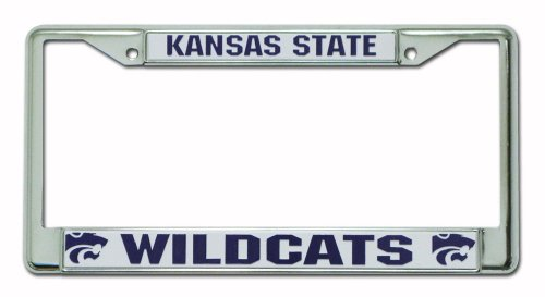 NCAA Kansas State Wildcats Chrome Plate Frame (License Plate Frame Kansas State compare prices)