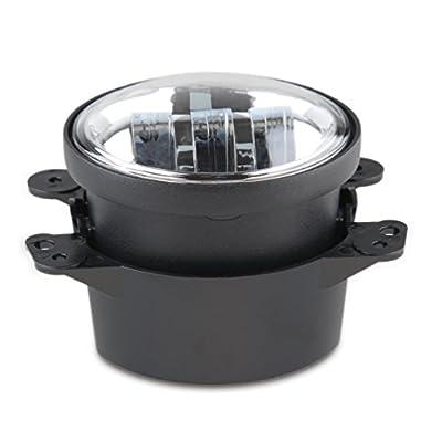 WINUNITE Chrome 4 Inch LED Fog Light for Jeep Wrangler JK Round Auto 4'' Fog Passing Driving Lamp -Pair: Automotive