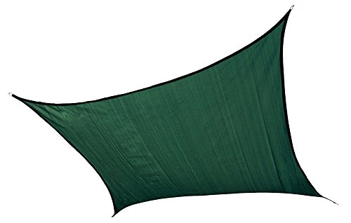 ShelterLogic 25727 Sail Heavyweight 16 x 16 ft. Square Evergreen Sun Shade, 16 x 16 ,