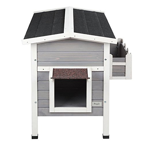 Petsfit Weatherproof Outdoor Cat Shelter/House/Condo with Stair