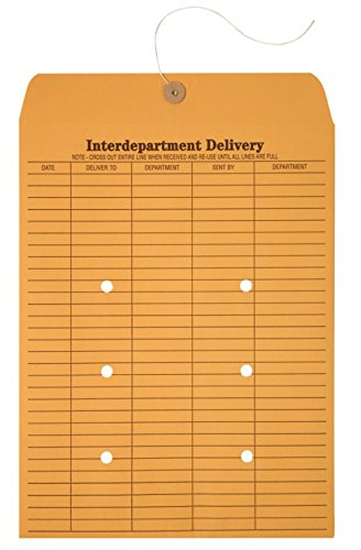 Office Depot Brand Interdepartment Envelopes, 10'' x 13'', Brown, Box of 100 by Office Depot