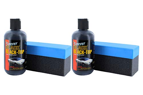 Forever Car Care Products FB813 BLACK Black Top Gel and Foam Applicator (2 PACK) (Best Car Products For Black Cars)