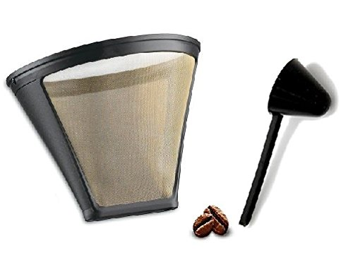Replacement Permanent Coffee filter GTF-4 Gold Tone Filter for DCC-450 Coffee Maker with Large Coffee Scoop ()