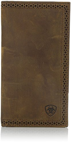 Ariat Ariat Shield Perforated Edge Rodeo Wallet Wallet Medium Distressed Brown One Size