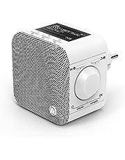 Hama DIR45BT 54240 Stekkerradio DAB+, Bluetooth & Spotify (WLAN keukenradio met FM, AUX, app-bediening, wekker, LCD-display, plug in radio klein voor stopcontact, wit