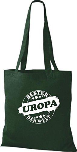Shirtinstyle Bolso de tela Bolsa de algodón Bester UROPA der Welt Verde