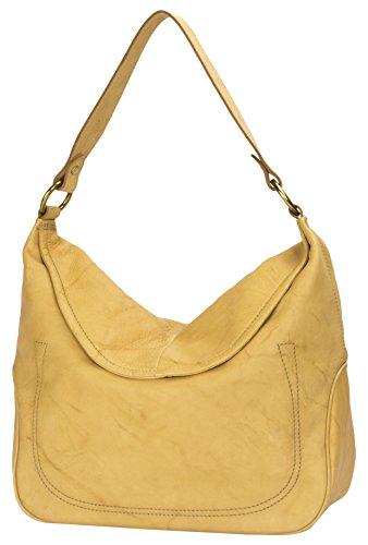 FRYE Campus Large Rivet Hobo Leather Shoulder Bag, Banana by FRYE