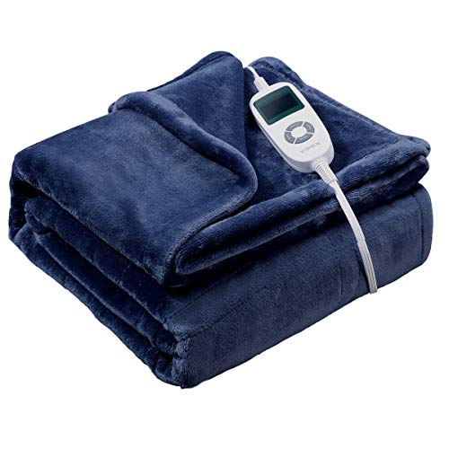 Heated Blanket, VIPEX Electric Heated Throw Blanket with 10 Heat Settings Auto Shut Off Soft Warm Blankets for Travel Home, 50x 60
