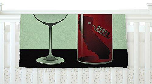 KESS InHouse Thomas Fuchs California Wine Green Red Fleece Baby Blanket 40 x 30 [並行輸入品]   B077Z4H9CP