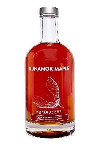 Runamok Maple, Sugarmaker's Cut, Organic Vermont Maple Syrup, Grade A, Amber Color, Rich Taste, 25.36 Ounce, 750mL - Organic Vermont Maple Syrup