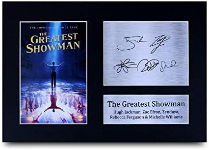 HWC Trading The Greatest Showman Cadeau Handtekeningen A4 Printed Hugh Jackman Zac Efron Zendaya Rebecca Ferguson Michelle Williams Illustrated Print Ads FotoS