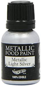 Amazon.com: 1 X Silver Food Paint by Rainbow Dust: Kitchen & Dining