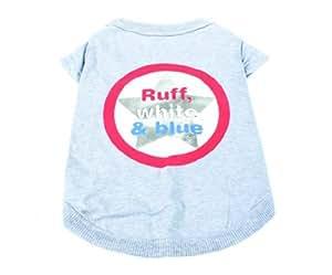Kwigy Bo Ruff, White, and Blue Dog T-Shirt Size X-Small