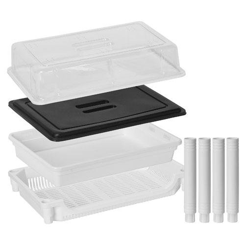 (OKSLO Sproutman extra level tray set for sm-350 wheatgrass grower model sm009 (7))