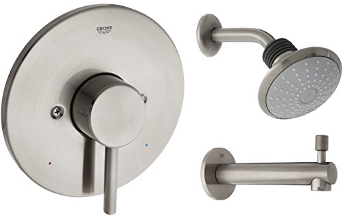 Concetto Single-Handle Single-Spray Tub and Shower Faucet Combination