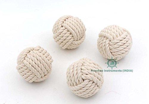 Set of 6 Cotton Rope Balls/Nautical Decoration Table Decor Rope Balls/Nautical Bowl Filler/Beach Decor