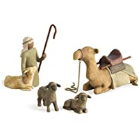 Willow Tree Shepherd and Stable Animals 4-piece set (Shepherd and Stable Animals)