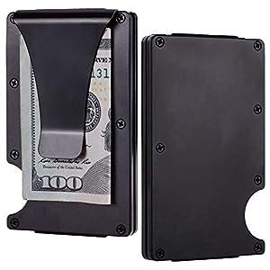 BSWolf Aluminum Slim Minimalist Front Pocket Wallet Credit Card Case Holder RFID Blocking