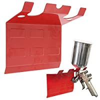 TCP Global Brand Magnetic Paint Spray Gun Holder Stand, Hold up to 5 Gravity, Siphon or Pressure Feed HVLP Guns, Air Hose, Booth Wall, Body Shop