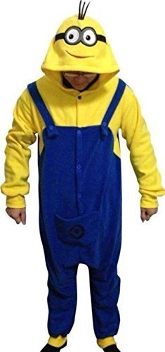 Despicable Me 2 Adult Men Women Unisex Animal Sleepsuit Kigurumi Cosplay Costume Pajamas Outfit Nonopnd Nightclothes Onesies Halloween Cheap Costume Clothing (M(162CM-171CM)) by (Halloween Costume Uk Cheap)