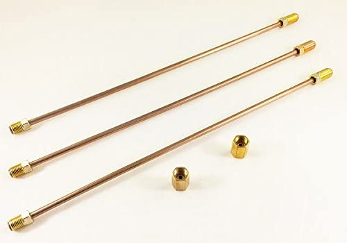 3//8-24 3//16 Copper Nickel Brake Lines 72 Long with Inverted Double Flares and Standard Tube Nuts