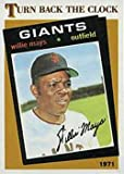 1986 Topps # 403 Willie Mays 1971 San Francisco Giants Baseball Card