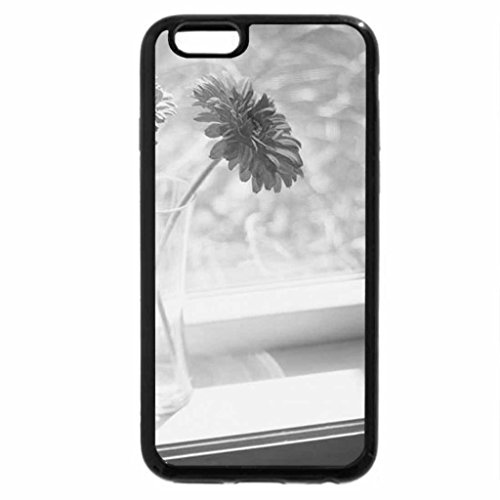 iPhone 6S Plus Case, iPhone 6 Plus Case (Black & White) - Gerberas by the Window