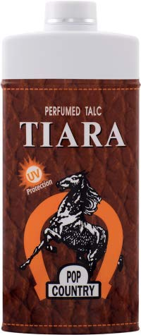 Tiara Pop Country UV Protection Perfumed Talc 400 g. (4 Pack) by Tiara