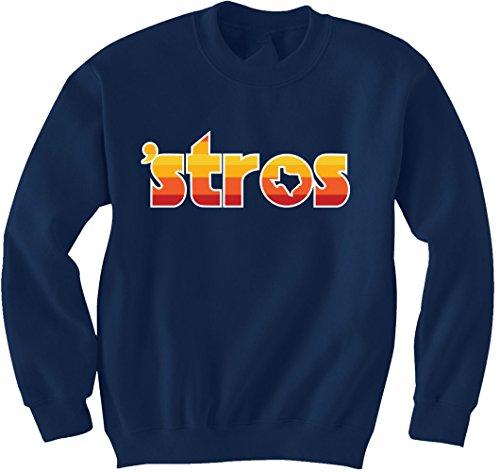 Navy Houston Correa Altuve STROS Crewneck Sweatshirt Adult