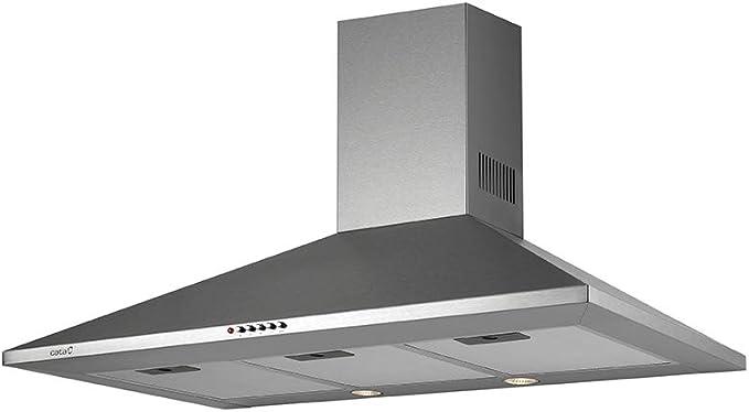 CATA OMEGA 900 645 m³/h De pared Acero inoxidable C - Campana (645 m³/h, Canalizado/Recirculación, D, A, B, 71,8 dB): Amazon.es: Grandes electrodomésticos