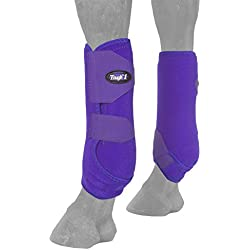 Tough-1 Vented Sport Boots Front Small Purple