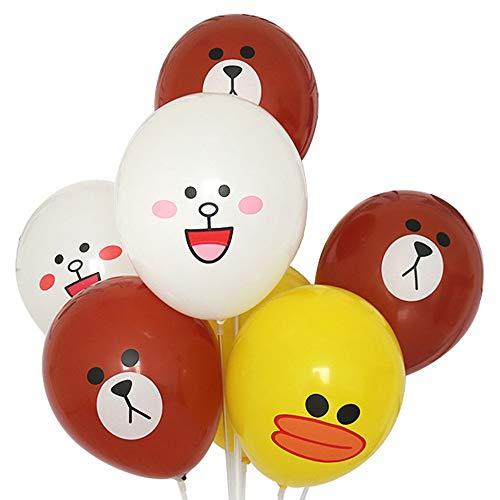 60pcs Children's Cartoon Balloons Party Supplies, 12 inches Premium Latex Helium Balloon, Children's Birthday Party Decorative Balloons Baby Shower Decorative Balloons (Multicolor)