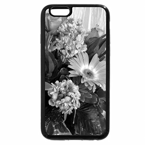 iPhone 6S Plus Case, iPhone 6 Plus Case (Black & White) - lilies_roses_gerberas