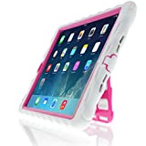 Apple iPad Air Gumdrop Stand iPad Air White Gumdrop Cases Silicone Rugged Shock Absorbing Protective Dual Layer Cover Case