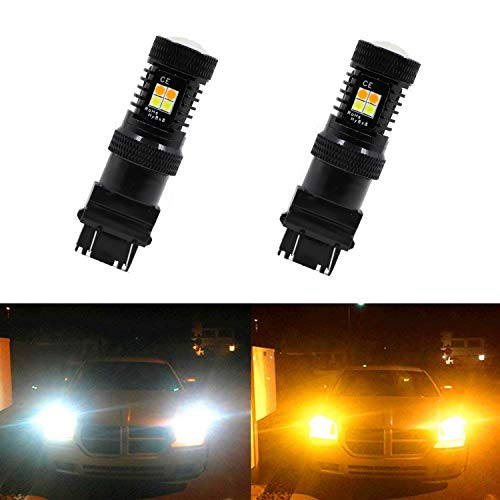 Dantoo 2 x 3155 3457 4157 3157 Turn Signal Bulbs 3030 Chipsets Extremely Bright White/Yellow LED Bulbs for Turn Signal Lights Blinker Bulbs -