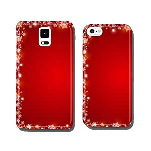 red background with frame of snowflakes, vector cell phone cover case iPhone5