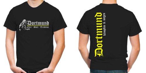 Dortmund Ehre & Stolz T-Shirt | Fussball | Schwarz | Zeche | Herrn | Liebe | Ruhrgebiet | Männer | Trikot | Westfalen | FB
