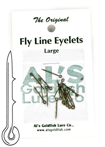 Leader Fly Line Knot - Al's Goldfish Lure Co. FL24-2 Fly Line Eyelet, Silver Finish