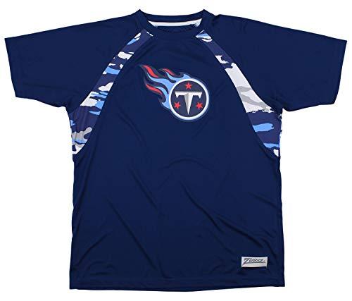 Zubaz NFL Men's Camo Solid T-Shirt, Tennessee Titans XX-Large