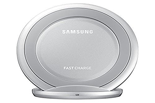 Samsung Qi Certified Fast Charge Wireless Charger Stand w/Wall Charger-Supports Qi compatible phones including the Samsung GS 8Note8,Apple iPhone 8, and iPhone X (US Vers.)- Silver (2 Pack) by Samsung (Image #3)