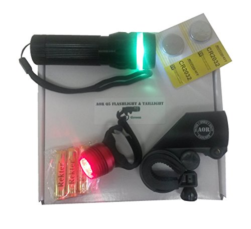 AOR Flashlights – #AOR192 Best Front Bike Light and Bike Taillight Gift Box and Batteries Included Review