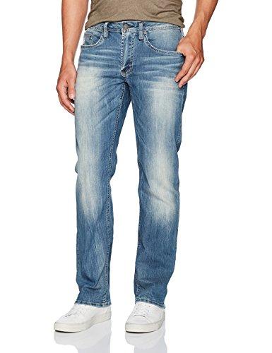 Buffalo David Bitton Men's Driven Relaxed Straight Fit Denim Pant, Indigo, 30x32