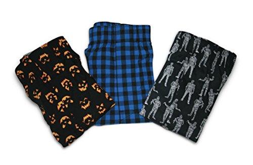 GAP Men's Printed Boxers 3-Pairs Boxer Shorts (Medium) (mummies, Blue-Black Plaid, Jack-O-Lantern (Face Boxer Shorts)