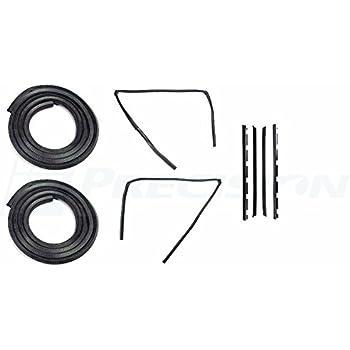 Precision Automotive 81-87 Chevy Truck Door Gaskets /& Beltline Molding Channel Weatherstrip Seal Kit