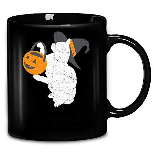 Distressed Cat Witch Halloween Costume Shirt Coffee Mug 11oz & 15oz Gift Tea -