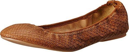 Wanted Shoes Women's Lario Ballet Flat, Cognac, 7.5 M - Ballet Flats Elastic