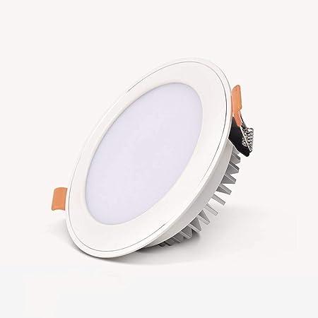 Tritow 3W Cocina Moderna LED Empotrado Downlight Sala de Estar de Aluminio Pasillo Panel de Techo Luz Hogar Escalera Interior Lámpara de Panel Oficina Comercial Mostrar Tienda de Ropa Foco Empotrado: Amazon.es: