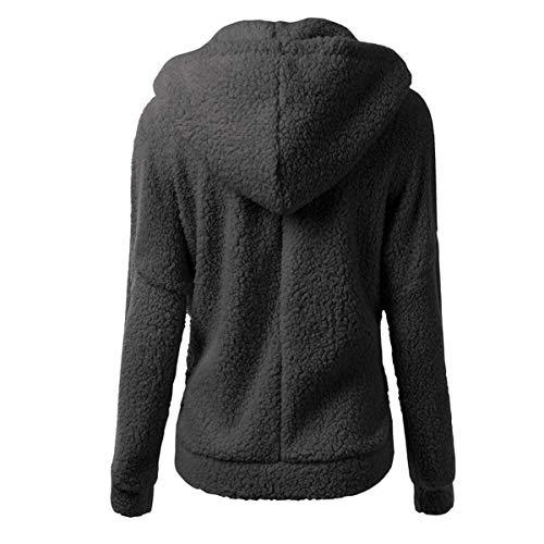 Courte Capuche Sweat Veste Élégant Noir À Hiver shirt Femme Automne Blouson Zippé Mode Fanessy La Manteau Chic 0n7RzxwqT