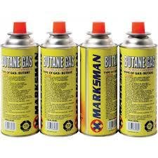 4 BUTANE GAS BOTTLES/CANISTERS IDEAL FOR PORTABLE STOVES GRILLS HEATERS NEW